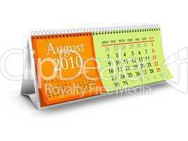 August 2010 Desktop Calendar