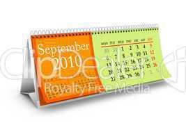 September 2010 Desktop Calendar