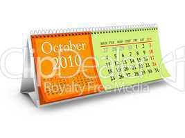 October 2010 Desktop Calendar