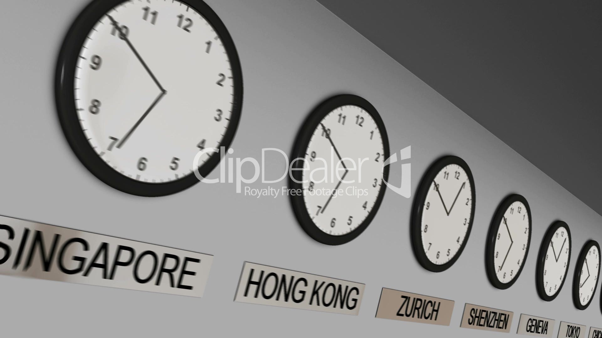 office clocks. Video Footage Clip - Office Clocks N