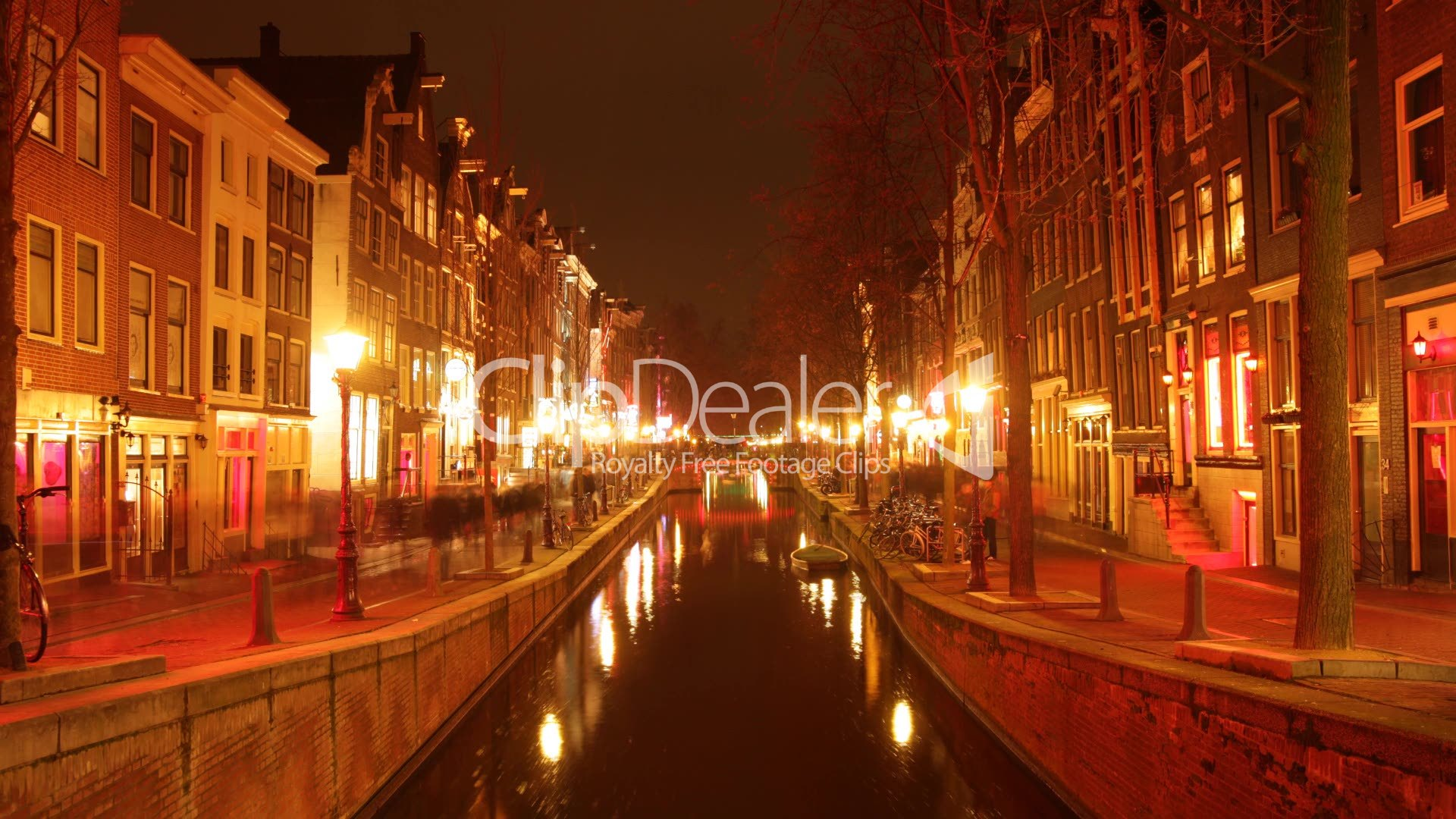 amsterdam bei nacht royalty free video and stock footage. Black Bedroom Furniture Sets. Home Design Ideas