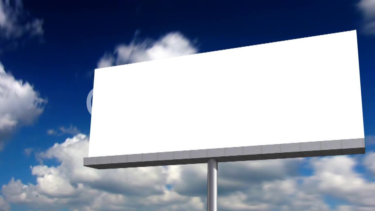 Blank Billboard Blank billboard: Royal...