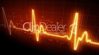 Seamlessly looping EKG heart monitor