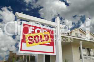 Sold Home For Sale Sign & New Home