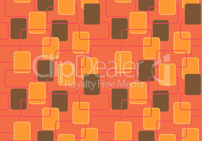 Nahtloses Muster in Braun und Orange