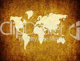 Weltkarte retro