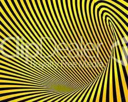 Abstrakter schwarz-gelber Hintergrund