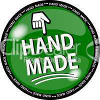 hand made button grün