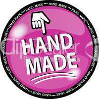 hand made button pink