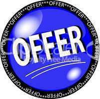 offer button blau