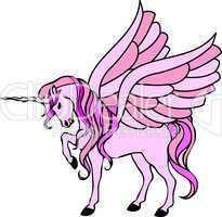 pink einhorn mit flügeln