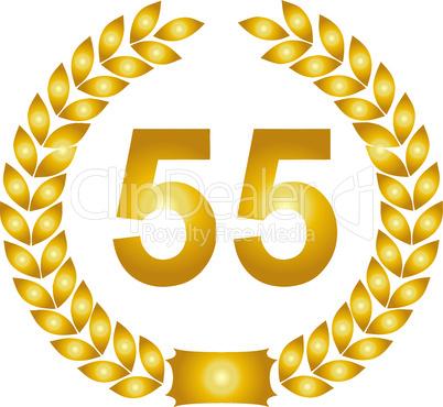 goldener lorbeerkranz 55 jahre