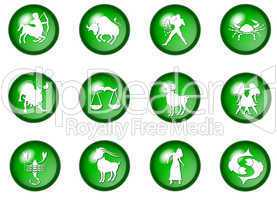 grüne sternzeichen buttons - horoskop
