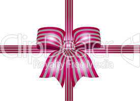 pink schleife mit silbernen streifen