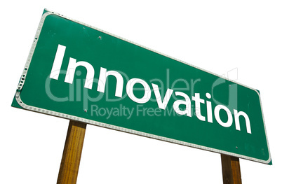Innovation Road Sign with Clipping Path
