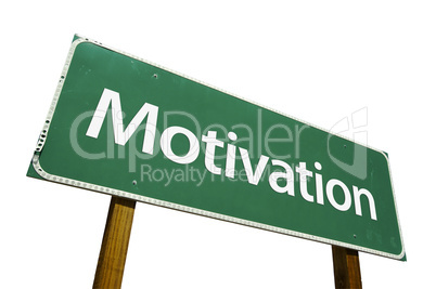 Motivation Road Sign with Clipping Path