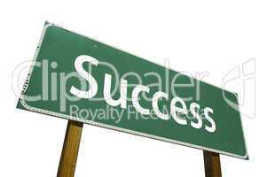 Success Road Sign with Clipping Path