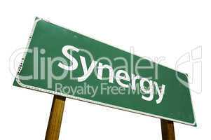 Synergy Road Sign with Clipping Path