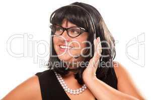 Black Haired Retro Receptionist