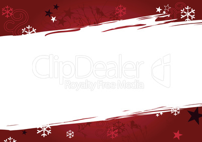 Christmas background in red grunge colors