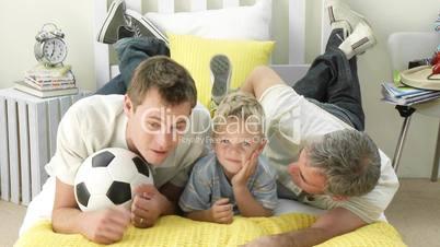 Männer aus drei Generationen