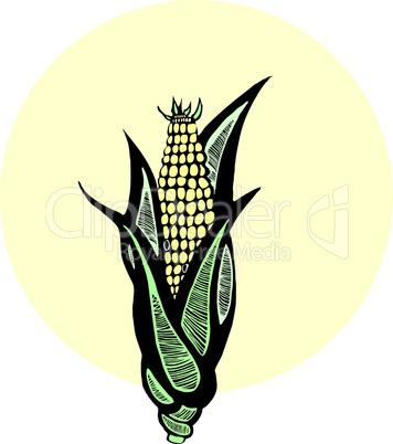 Woodcut Corn