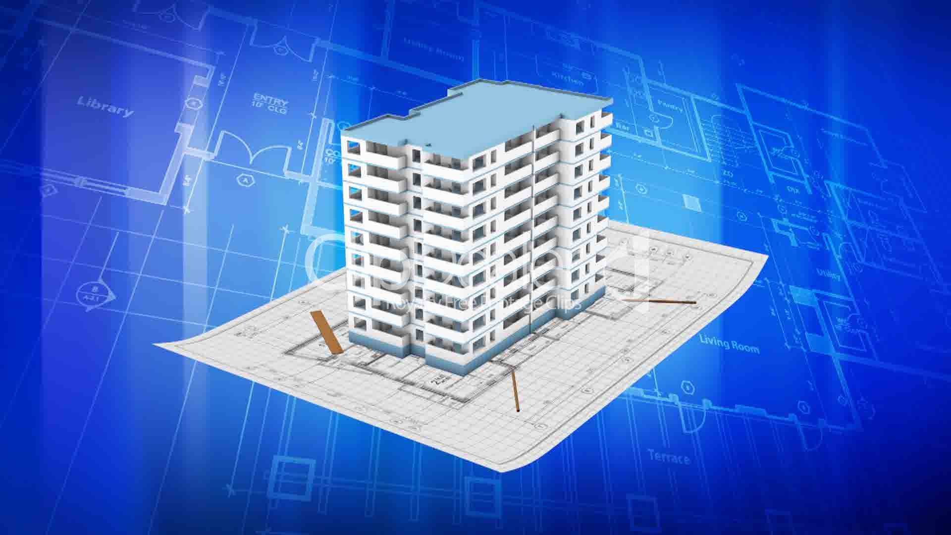 House being built on a blueprint paper royalty free video and clips house being built on a blueprint paper malvernweather Image collections
