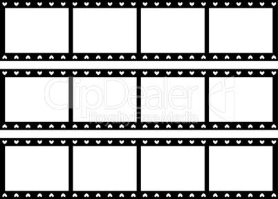 Filmstreifen mit Herzen