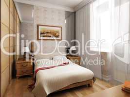 3d bedroom rendering