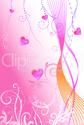 abstract valentine's background