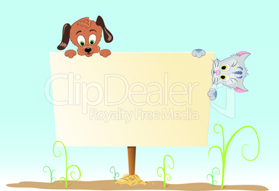 Poster with animal