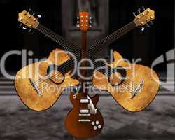 cool 3D guitar