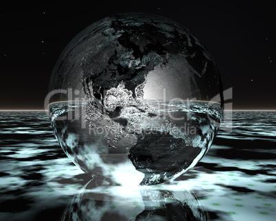 3D night globe