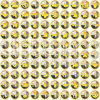 100 golden silver bright Icons