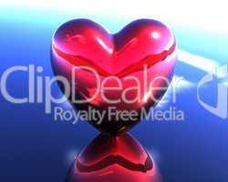 red love 3D heart