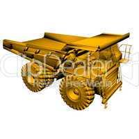 golden heavy truck model