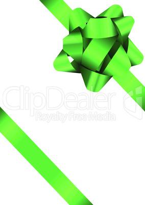 Green Bow Illustration
