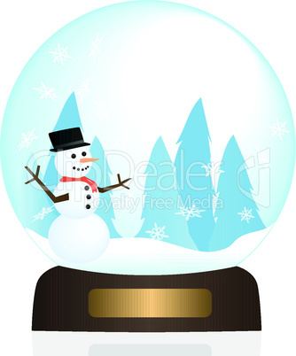 Snow Globe Illustration