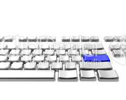 keyboard with blue color key