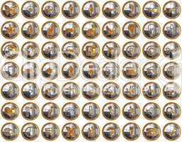 Golden Bright Icons Suite with original size 256x256 each