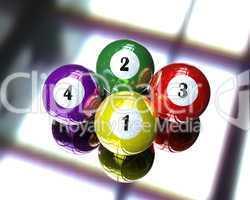 4 pool billiard ball