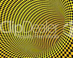 abstract yellow black creative techno tunnel