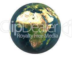 3D world Africa isolated