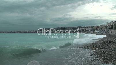 The Nice foreshore and Promenade des Anglais