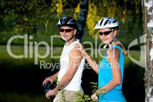 biking couple