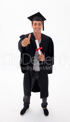 Happy Teen Guy Celebrating Graduation