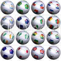 South Africa Soccer Wold Cup, second sixteen nations