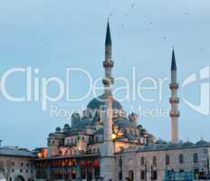Yeni or New Mosque by Galata bridge in Istanbul