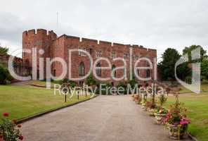 Shrewsbury Castle with floral driveway
