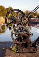 Old winch by canal in Ellesmere